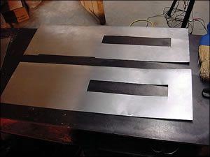 Step 3: cutting the metal and assembling the base & wall.